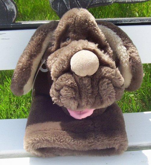 Vintage Brown Wrinkle Wrinkles Dog Hand Puppet - 1985 www.rootbeer.ecrater.com