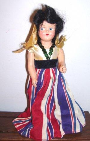 Vintage 2 doll lot composition girls Princess Ann Gypsy