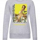 OPENSPACE  SIZE XL, art & fashion Crewneck Sweatshirt for man, gray, biodegradable package