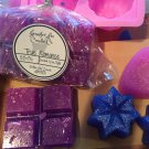 Scented Wax Melt Snap Bar / Highly Scented / with Glitter / 2.5 Oz / Tie Dye