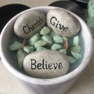 Soy Blend / Scented Candle / Cement Planter / Inspirational / 36 Oz /