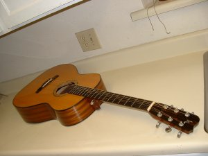Rare Kinnaird Acoustic Guitar Made in USA with Case