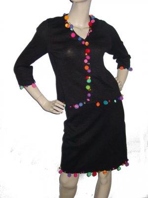 Cute MICHAEL SIMON Outfit Set Top Skirt Sz Small