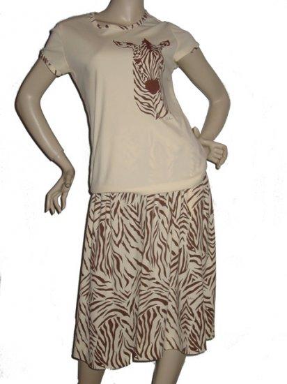 MISS SHAHEEN Hawaii Shirt Skirt Set L Large 10 Outfit