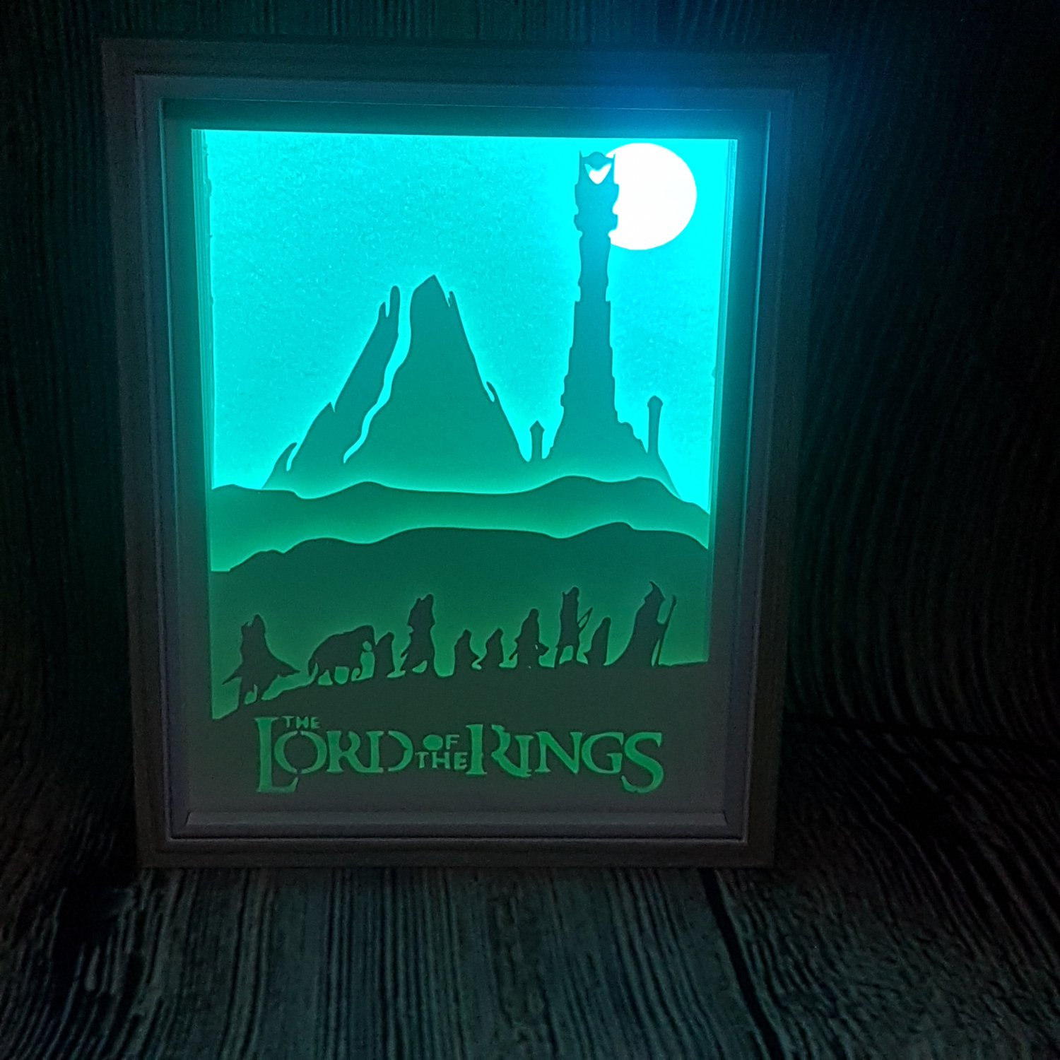 LORD OF THE RINGS  inspired papercut shadow box, night light digital templet, svg, pdf, scut5