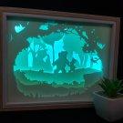 WINNIE THE POOH PIGLET inspired papercut shadow box, night light digital templet SVG PDF SCUT