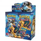 360Pcs Pokemon Cards XY Evolutions 36 Bags Sealed Booster Box Collection Trading Card Game Toys