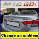 OEM Genuine New HYUNDAI MOBIS 86314 3X100 Chrome M16 GDI Logo Rear Badge Emblem