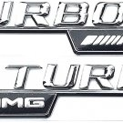2X 2PCS  Genuine New Mercedes-Benz A 222 817 04 15 AMG TURBO Logo Side Mudguard Badge Emblem