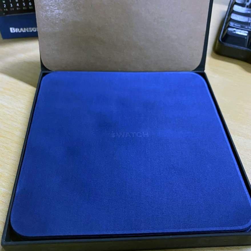 Genuine New Blue APPLE iWatch Microfiber Screen Cleaning Cloth iMac MacBook iPad iPhone