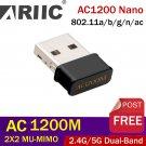 Mini USB 2.0 Wifi Adapter 1200Mbps Dual Band 2.4Ghz 5.8Ghz RTL8812BU Wireless WiFi Network card