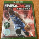 Brand New Sealed NBA 2K15 Game(Microsoft XBOX ONE, 2014) Chinese Versione China