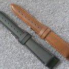 Mens 18mm brown vegan watch strap watchband