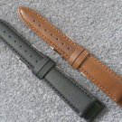 Mens 18mm black vegan watch strap watchband