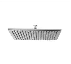 "Aquabrass 810 BN 10"""" Square Rain Head Showerhead - Brushed Nickel"