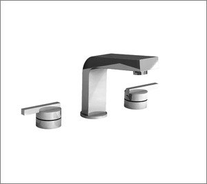 Aquabrass Hey Joe 28016-18073 BL Two Handle Widespread Lavatory Faucet - Black