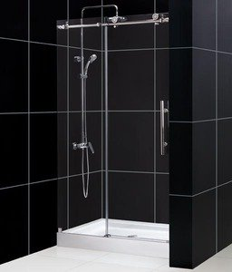 DreamLine ENIGMA-X 44-48 x 76 Shower Door - Brushed Stainless Steel - SHDR-61487610-07