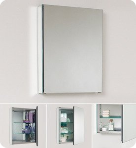 "Fresca FMC8058 19.75"""" Mirrored Bathroom Medicine Cabinet"