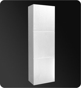 "Fresca FST8090WH Bathroom 17.75""""W x 59""""H Linen Side Cabinet w/ 3 Large Storage Areas - White"