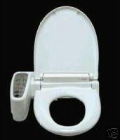 Hometech HI-3001-WT Elongated Bidet 'N' Wash - Hygiene Toilet Seat - White