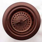 """Linkasink D003 WC 3/2"""""""" Spin and Turn Basket Strainer - Weathered Copper"""