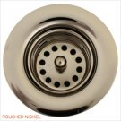 """Linkasink D001 PN 1 7/8"""""""" Junior Bar or Lav Sink Basket  Strainer & Flange  - Polished Nickel"""