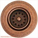 """Linkasink D001 WC 1 7/8"""""""" Junior Bar or Lav Sink Basket  Strainer & Flange  - Weathered Copper"""