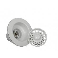 Opella 90066.31 Basket Strainer & Flange Drain Assembly - Euro White