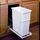 Rev-A-Shelf RV1024W10 Waste Container for Under Cabinet Pull Out - 27 Quart - White