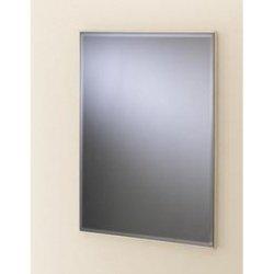 "Valsan Cubis Plus 664011CR 20 1/2"""" x 15 1/2"""" Rectangular Mirror w/Fixing Caps - Chrome"