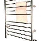 Amba RWH-SP Radiant Hardwired Straight Bathroom Towel Warmer - Polished Stainless