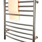 Amba RWP-CB Radiant Plug-in Curved Bathroom Towel Warmer - Brushed Stainless