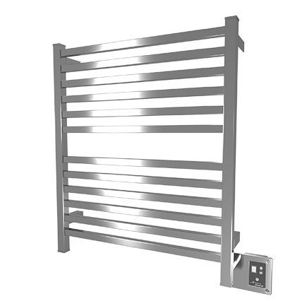 """Amba Quadro Q-2833-B 28"""" W x 33"""" H Towel Warmer and Space Heater - Brushed Stainless"""