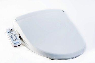 HOMETECH HI-7001-WT ELONGATED BIDET 'N' WASH - HYGIENE TOILET SEAT - WHITE