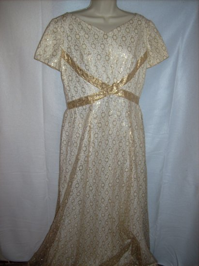 Gold and Ivory Gown