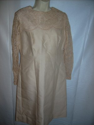 Ivory Dress with Lace Top