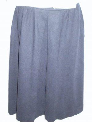 Navy Blue Wool Skirt