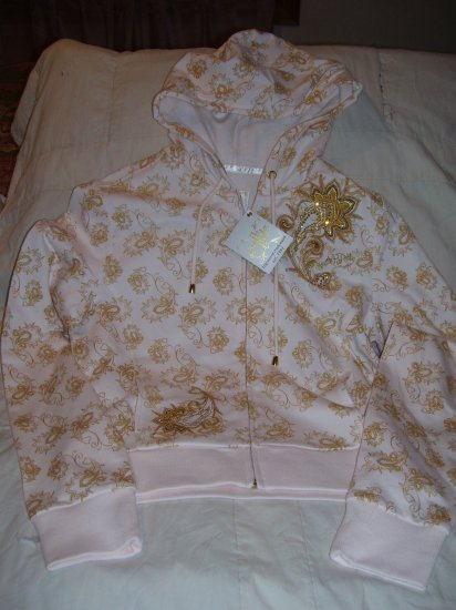 South Pole Hoodie Hooded Sweatshirt Junior XL  Cream Gold New