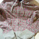 Roxy Hoodie Sweatshirt Gray Multi Color Hearts Junior Size S Small