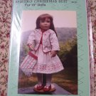 "Sashiko Christmas Suit Pattern for 18"" Doll Cloths SH300 Shirley Holmes"