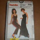 Burda Evening Coordinates Velvet Dress Top Pants 2827 Uncut Size 6-16