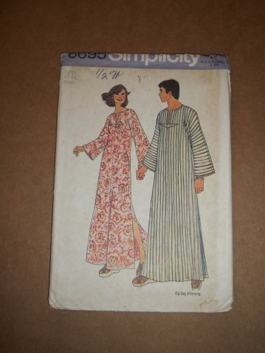 Men's or Misses Simplicity Caftan Simple To Sew Pattern 6695 Size Large 42-44 Uncut