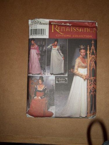 Simplicity Renaissance Dress Costume Pattern 9531  Size 6 8 10 12  Uncut