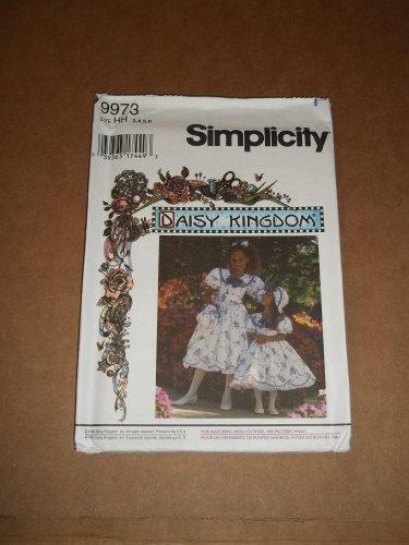 Simplicity Daisy Kingdom Girls Dress Hat Purse Hairbow Size 3,4,5,6 Uncut 9973