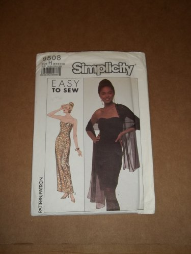 Simplicity Easy Sew Lined  Evening Formal Dress 9508 Size 6 8 10 Uncut