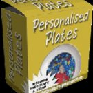 "Personalized Plates-- ""Create Personalized Plates with ease"""