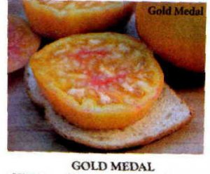 Gold Medal, bi-color tomato seeds