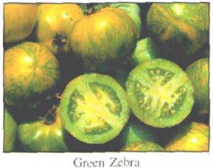 Green Zebra tomato seeds, small bi-color