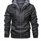 SPRING Bomber Leather Jacket with hoodie