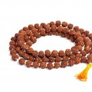 5 Mukhi Rudraksha Japa Mala 108 +1 Beads for Men and Women (7 mm, Brown) (R2)
